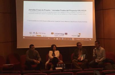 Francisco Viseas Trinidad (CHG), Rosa Nunes (ICNF/DRCNF - Algarve), André Matoso (APA), Jorge Revez (ADPM) na sessão de abertura das Jornadas Finais do Projeto VALAGUA.