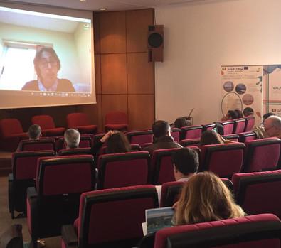 Rosa Giles (UHU) por videoconferencia.