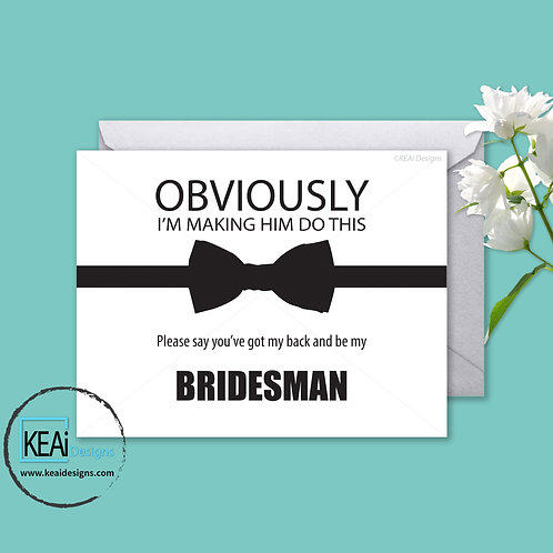 Bow Tie - Will you be my *BRIDESMAN*