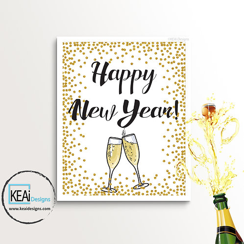 """8x10 """"Happy New Year!"""" SIGN"""