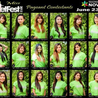 VF 2012 Contestants