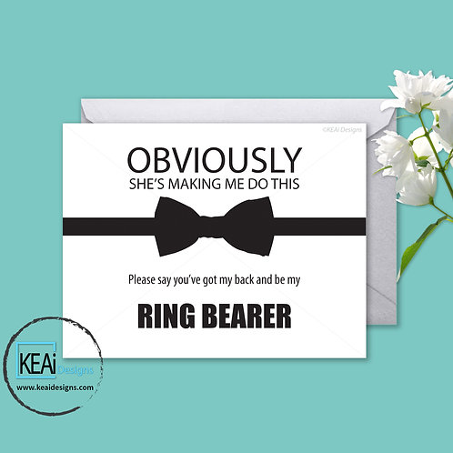 Bow Tie - Will you be my *RING BEARER*