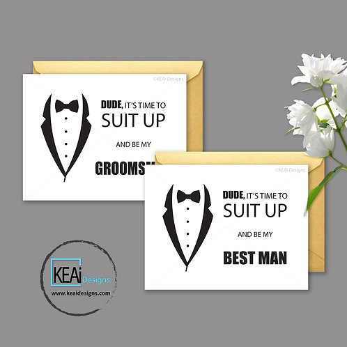 Tux - BUNDLE - Will you be my *BEST MAN, GROOMSMAN*