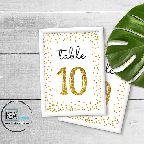 "4x6 ""Table Numbers 1-10"" SIGN"