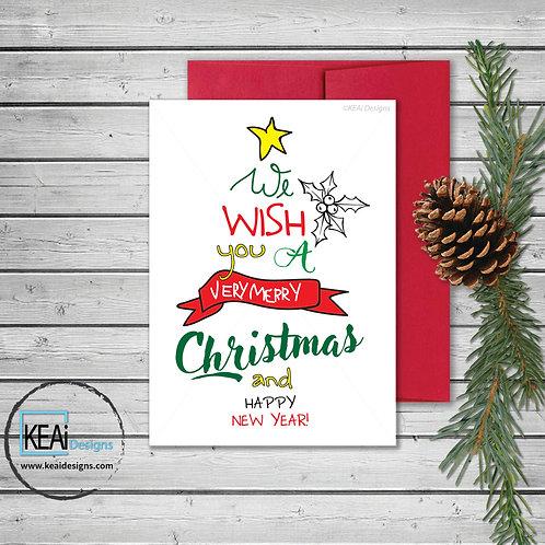 5 x 7 CHRISTMAS Tree Card