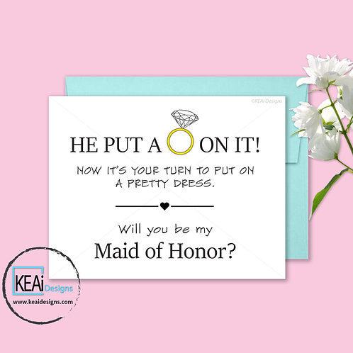 Ring - Will you be my *MAID OF HONOR*