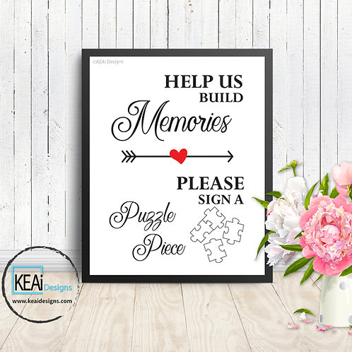 "8x10 ""Sign A Puzzle"" WEDDING SIGN"