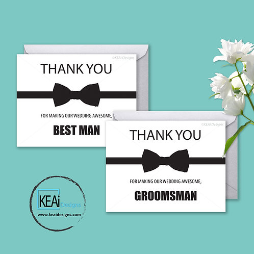 Bow tie - BUNDLE - Thank You *BEST MAN, GROOMSMAN*