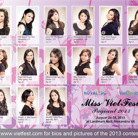 VF 2013 Contestants