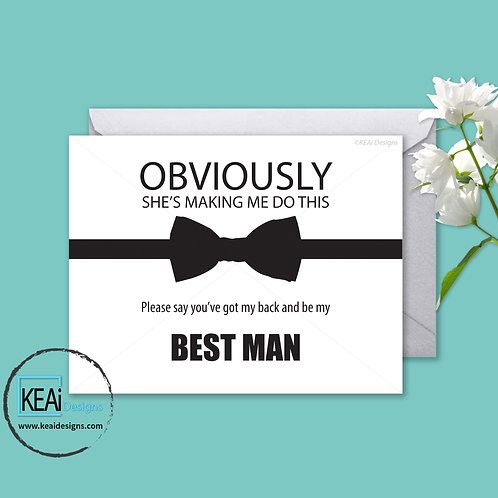 Bow Tie - Will you be my *BEST MAN*