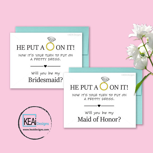 Ring - BUNDLE - Will you be my *MAID OF HONOR, BRIDESMAID*
