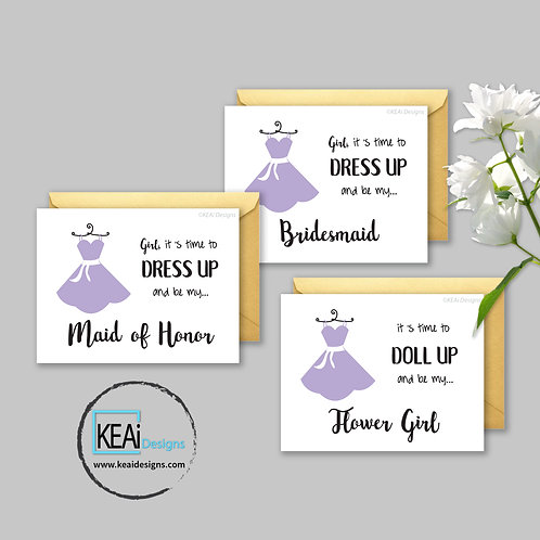 BUNDLE - Dress - Will you be my *MAID OF HONOR, BRIDESMAID, FLOWER GIRL*