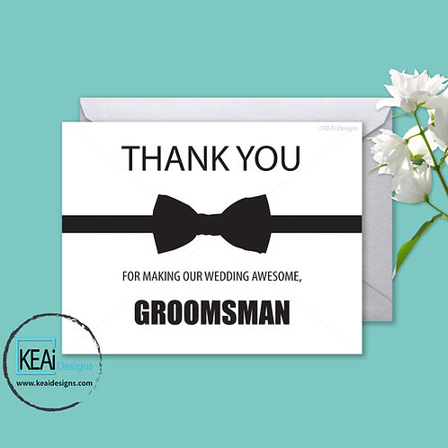 Bow Tie - THANK YOU *Groomsman*