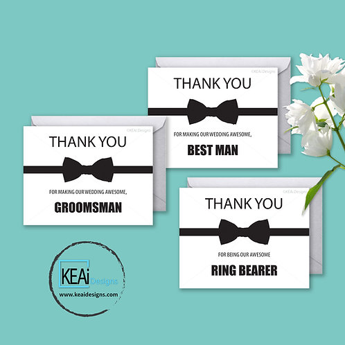 Bow tie - BUNDLE - Thank You *BEST MAN, GROOMSMAN, RING BEARER*