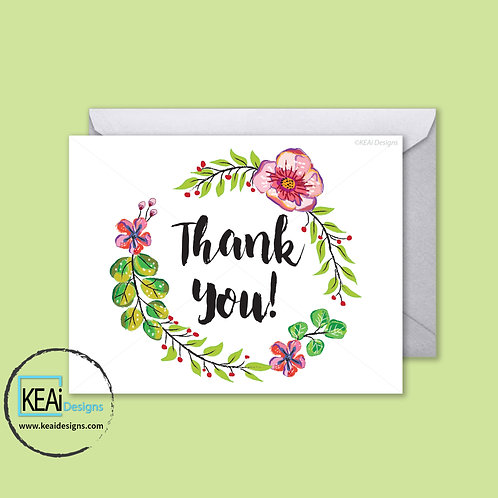 Wreath Spring Flowers - THANK YOU