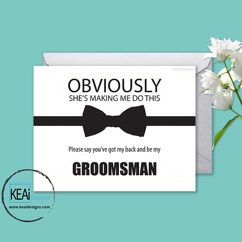 Bow Tie - Will you be my *GROOMSMAN*
