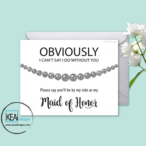 Pearl Necklace - Will you be my *MAID OF HONOR*