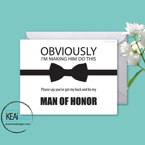 Bow Tie - Will you be my *MAN OF HONOR*