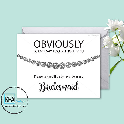 Pearl Necklace - Will you be my *BRIDESMAID*