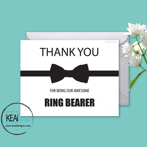 Bow Tie - THANK YOU *Ring Bearer*