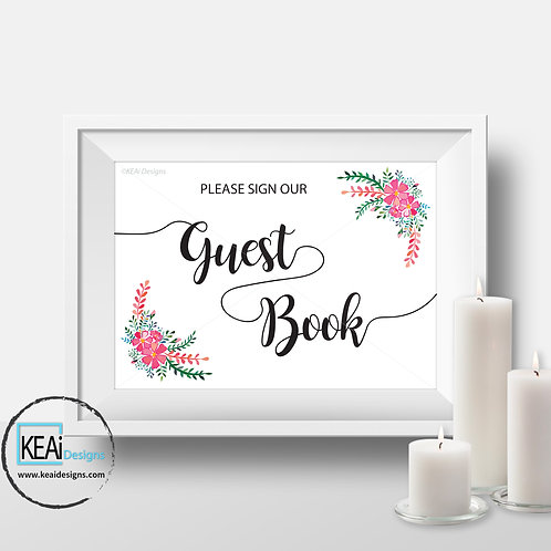 "8x10 ""Sign our Guest Book"" SIGN"