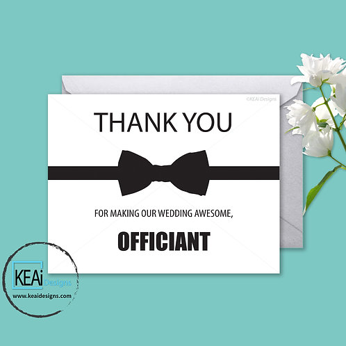 Bow Tie - THANK YOU *Officiant*
