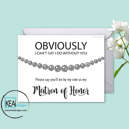 Pearl Necklace - Will you be my *MATRON OF HONOR*