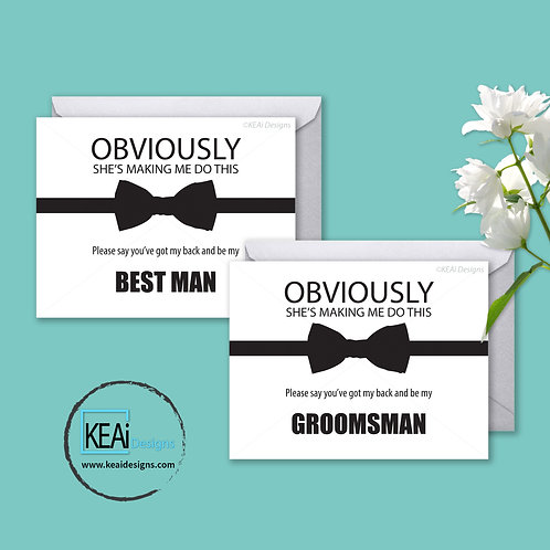 Bow Tie - BUNDLE - Will you be my *BEST MAN, GROOMSMAN*