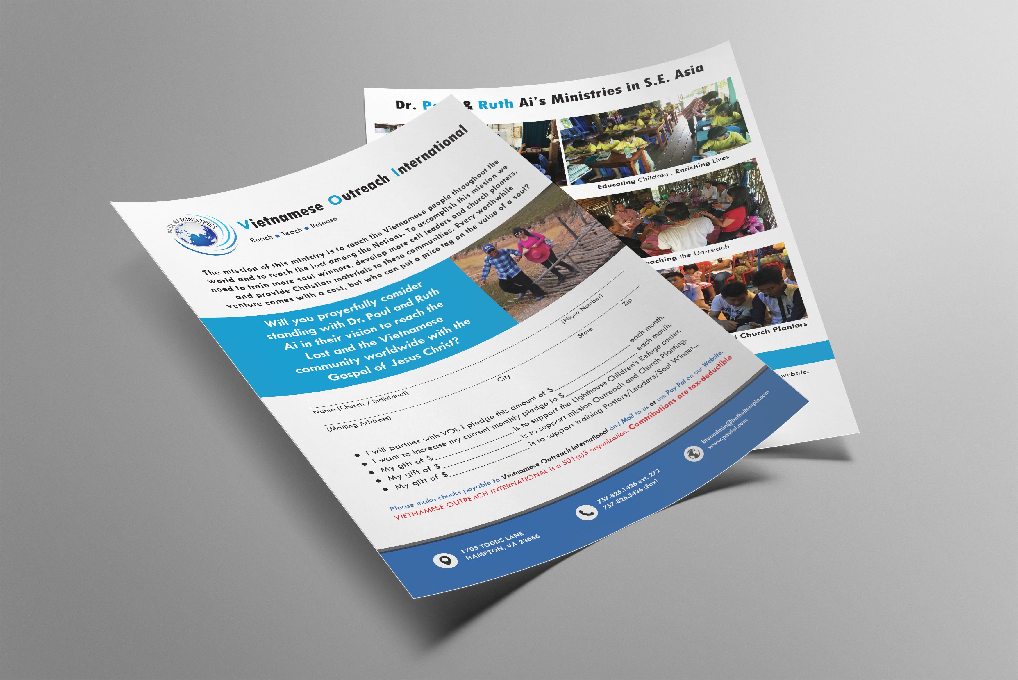 Paul Ai Ministries - Brochure Design