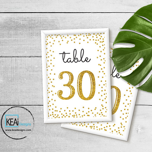 """4x6 """"Table Numbers 1-30"""" SIGN"""