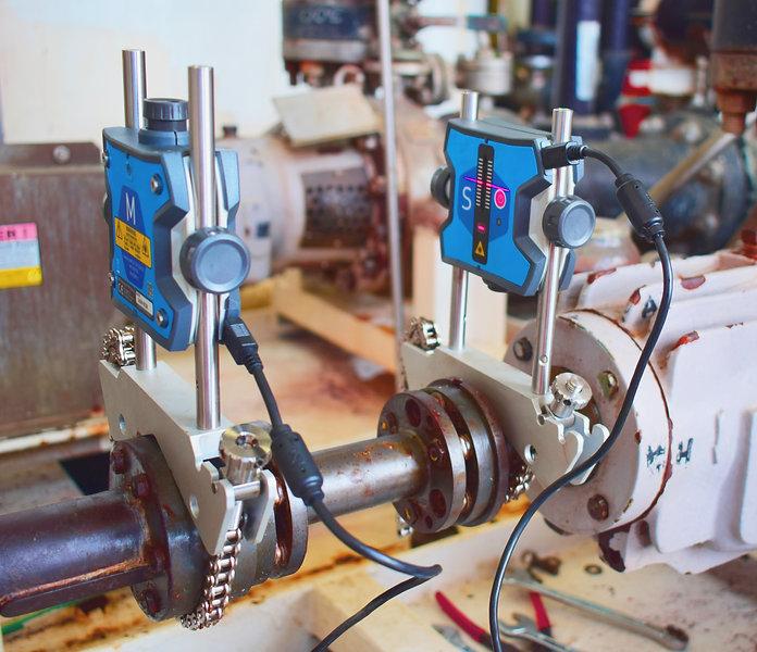 Laser alignment of shaft centrifugal pum