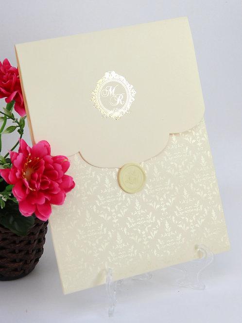 Convite Blin - Marfim e dourado fosco