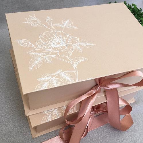 Caixa nude floral