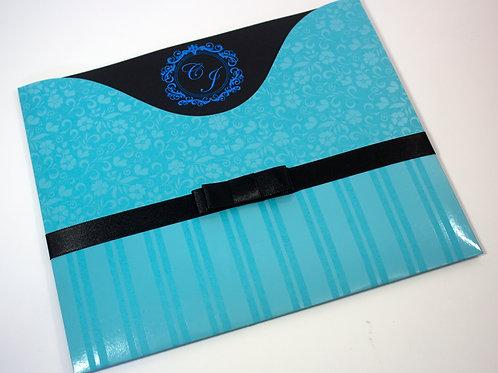 El Amor / azul turquesa e preto