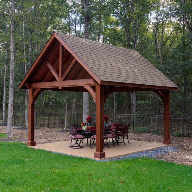 10'x14' Alpine Cedar Wood Pavilion, Cany