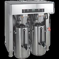 A double capacity coffee machine