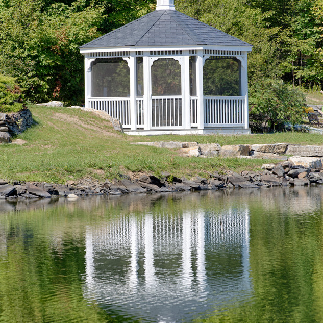 16' Oct - Country Style Gazebo - White V