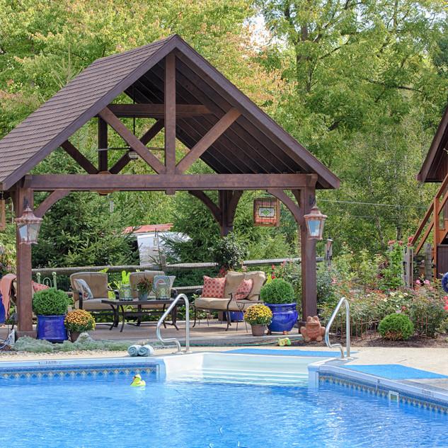 14'x16' Alpine Cedar Wood Pavilion, Cust