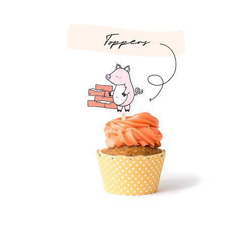 Toppers - Los tres cerditos