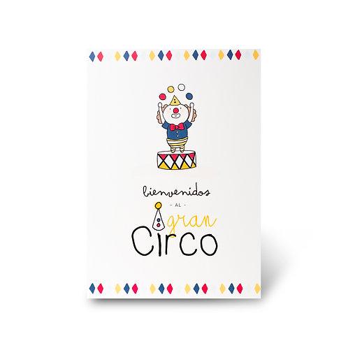 Cartel de Bienvenidas - Circo