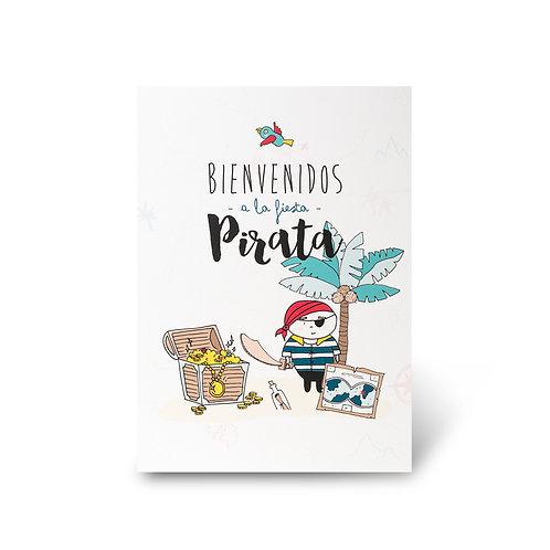 Cartel de Bienvenidas - Piratas