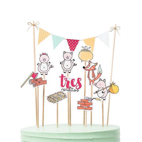 Cake toppers - Los tres cerditos