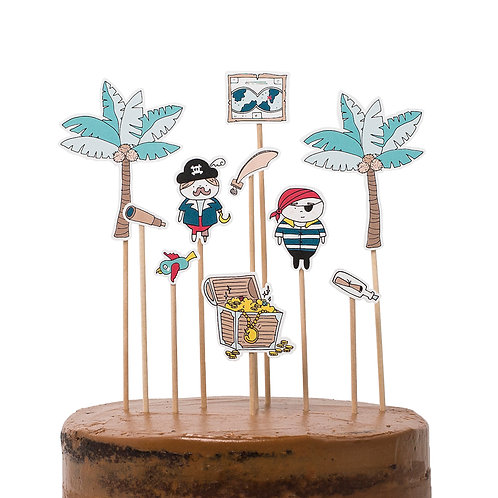 Cake toppers - Piratas
