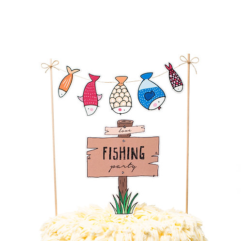 Cake toppers - Fishing Party