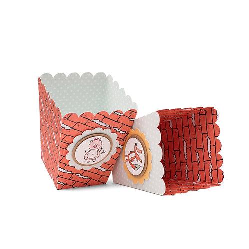 Cajas de palomitas - Los tres cerditos