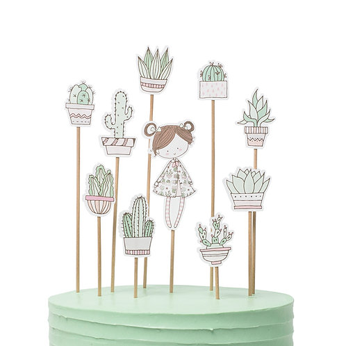 Cake toppers - Cactus