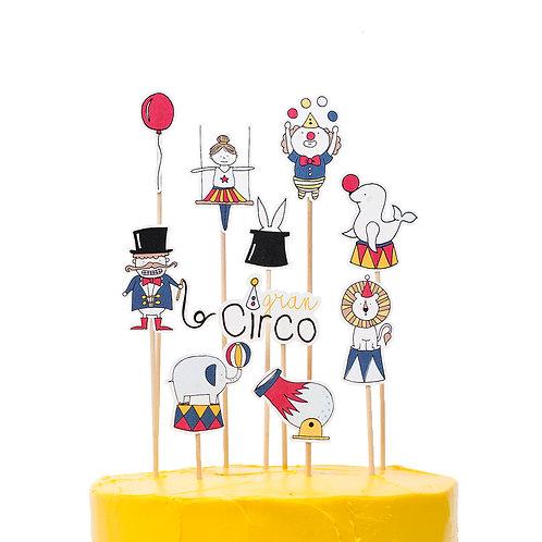 Cake toppers - Circo