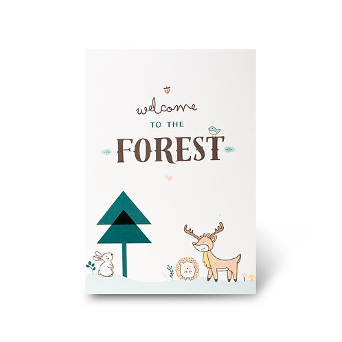 Cartel de Bienvenidas - Forest