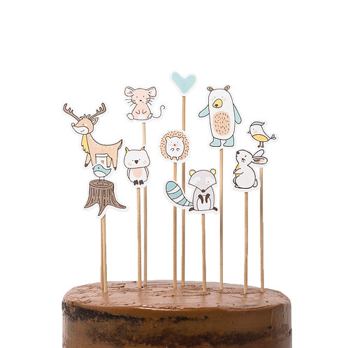 Cake toppers - Bosque