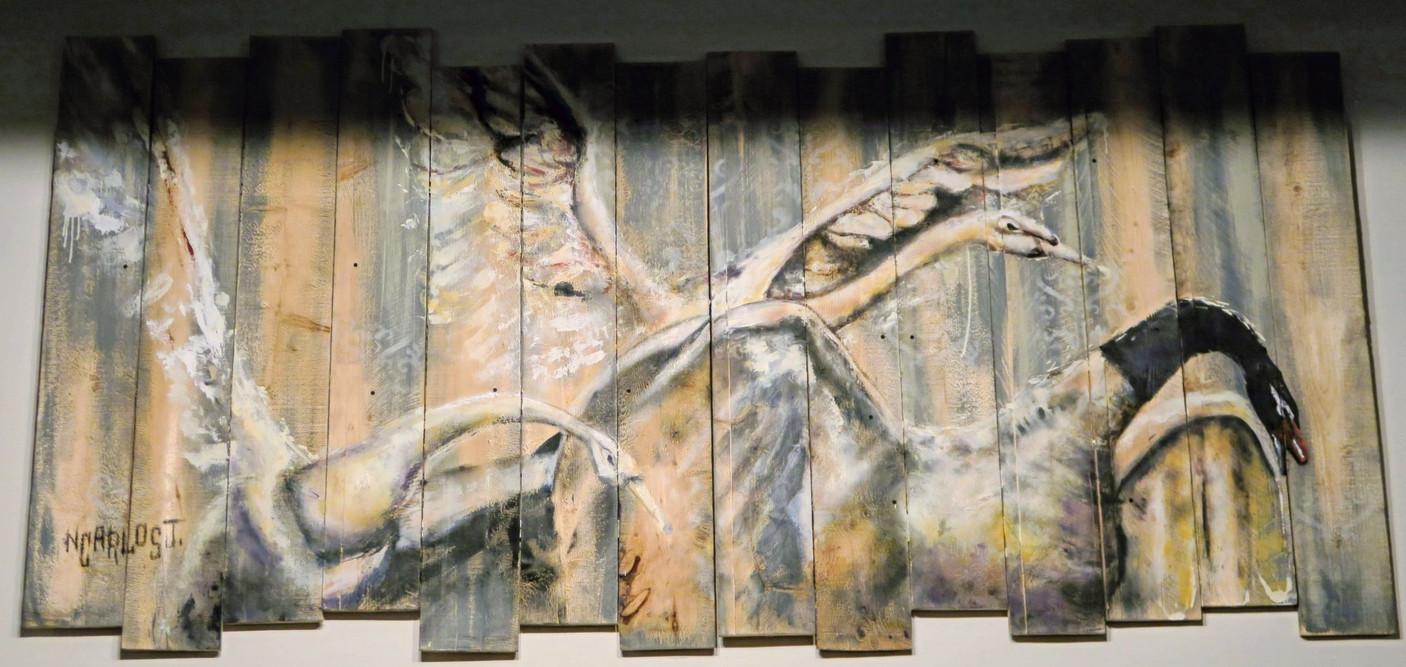 """The Swans"" Art Piece"